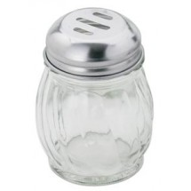 Royal ROY CS 6 S 6 Oz. Slotted Cheese Shaker with Stainless Steel Lid - 1 doz