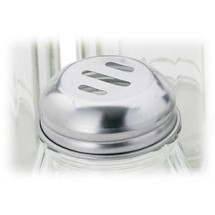 Royal ROY CS 6 SL Stainless Steel Slotted Replacement Lid 6 oz. - 1 doz
