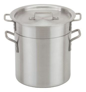 Royal ROY DB 16 Aluminum Double Boiler Set 16 Qt.