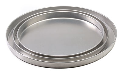 "Royal ROY DP 12 1 Aluminum Straight Sided Pizza Pan 12"" x 1"""