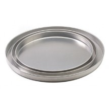 "Royal ROY DP 14 1 Aluminum Straight Sided 14"" x 1"" Pizza Pan"