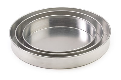 "Royal ROY DP 7 2 Aluminum Straight Sided 7"" x 2"" Pizza Pan"