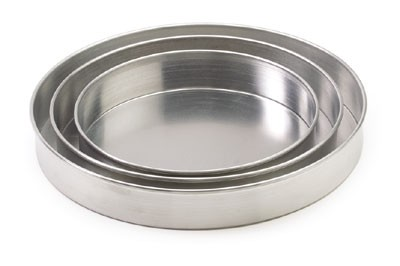 "Royal ROY DP 8 2 Aluminum Straight Sided Pizza Pan 8"" x 2"""