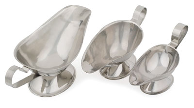 Royal ROY GBT 3 Stainless Steel Serving Boat 3 oz.