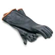 Royal ROY GLV BLK EL Heavy Duty Rubber Elbow Length Gloves - 1 Pair