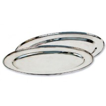 "Royal ROY OP 19 Oval Stainless Steel Serving Tray 12"" x 19"""