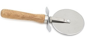 "Royal ROY PC 4 WD Pizza Cutter 4"" Wood Handle"