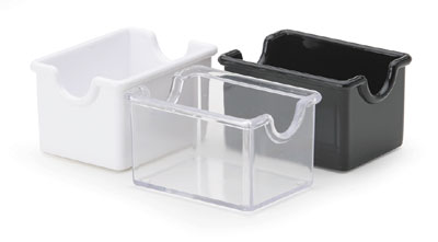 Royal ROY PPH 1 BLK Black Plastic Sugar Caddy - 1 doz