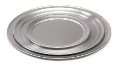 """Royal ROY PT 8 Wide Rimmed Aluminum Pizza Tray 8"""""""