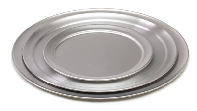 Royal ROY PT 9 Aluminum Wide Rimmed Pizza Tray 9""