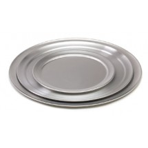 Royal ROY PT 8 Wide Rimmed Aluminum Pizza Tray 8""
