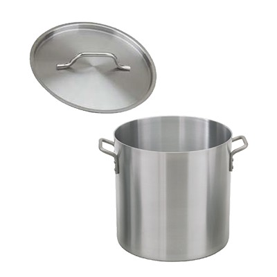 Royal ROY RSPT 40 H Heavy Weight Aluminum Stock Pot with Cover 40 Qt.