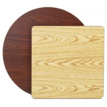 "Royal Industries ROY RTT 3042 T Rectangular Reversible Oak / Walnut Woodgrain Table Top 30"" x 42"""