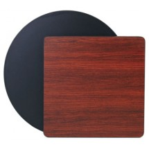 "Royal Industries ROY RTT BM 3030 T Rectangular Reversible Black / Mahogany Table Top 30"" x 30"""