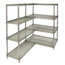 "Royal ROY S 1448 Z Polycoated Zinc Wire Shelf 14"" x 48"" - 4 pcs"