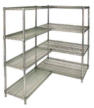 "Royal ROY S 2472 Z Wire Shelf with Plastic Mounting Sleeves 24"" x 72"" - 2 pcs"