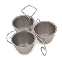Royal ROY S 3 Three-Way Server,10 oz. Stainless Steel Bowls