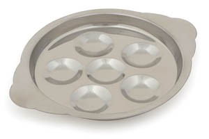 Royal ROY SP 6 P 6-Hole Stainless Steel Snail Plate