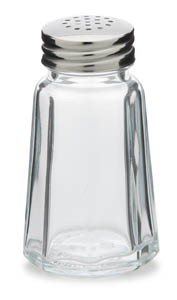 Royal ROY SPS 6 Stainless Steel 1 Oz. Paneled Salt and Pepper Shaker with Flat Top - 1 doz