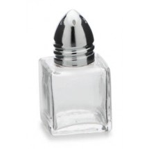 Royal ROY SPS 7 Chrome Mini-Cubed Salt and Pepper Shaker 1/2 oz. - 1 doz