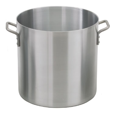 Royal ROY SS RSPT 100 Stainless Steel Induction Ready Stock Pot with Cover 100 Qt.