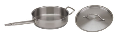 Royal ROY SS SAUTE 3 Stainless Steel Induction-Ready Saute Pan with Lid 3 Qt.