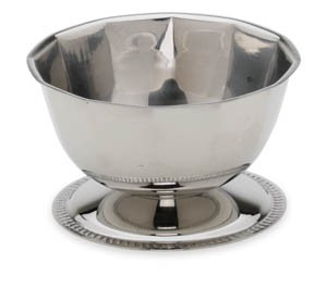 Royal ROY SUP 1 Shrimp Cocktail Lower Bowl with Gadroon Base 16 oz.