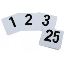 Royal ROY TN 1 100 Plastic Table Number Card Set 4