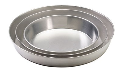 "Royal ROY TP 15 Aluminum 15"" x 2"" Tapered Deep Dish Pizza Tray"