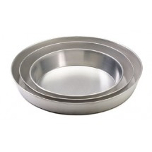 "Royal ROY TP 8 Aluminum 8"" x 1-1/2"" Tapered Deep Dish Pizza Tray"