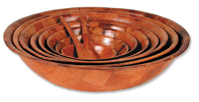 Royal ROY WWB 16 Woven Wood Salad Bowl 16""