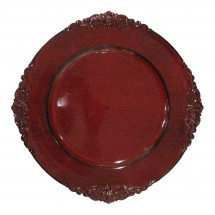 The Jay Companies 1180256 Round Royal Red Charger Plate 13""