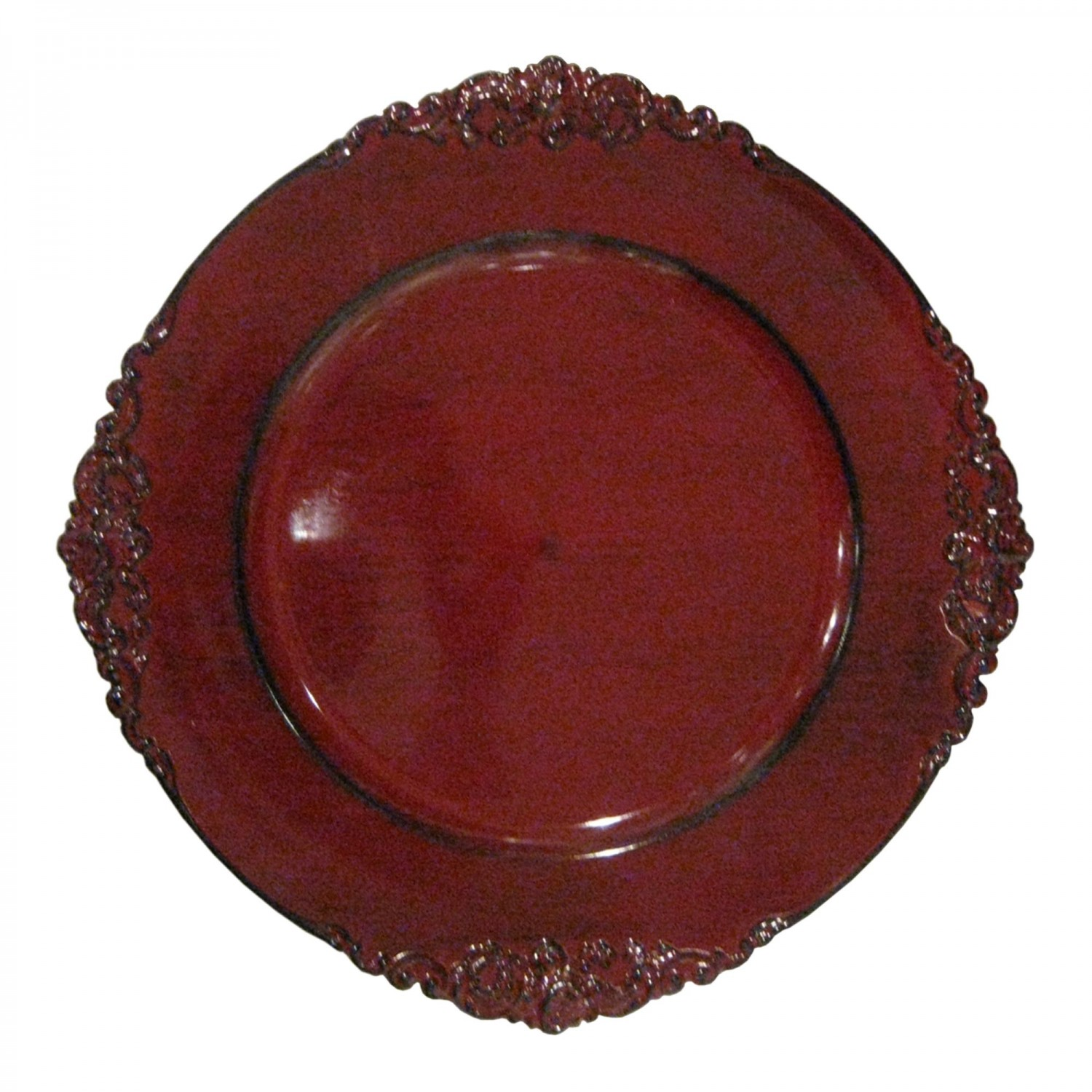 """Jay Companies 1180256 Round Royal Red Charger Plate 13"""""""