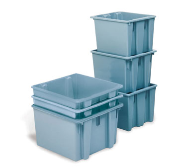 Rubbermaid FG173200GRAY 2-5/8 Cu. Ft. Palletote Box
