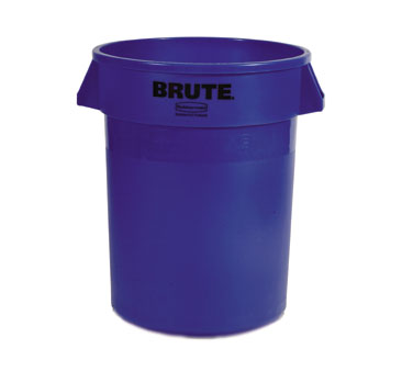 Rubbermaid FG263200BLUE 32 Gallon Round BRUTE Container without Lid