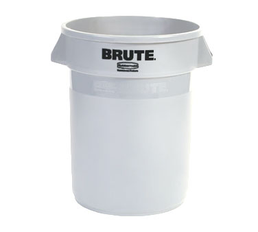 Rubbermaid FG263200WHT 32 Gallon Round BRUTE Container without Lid