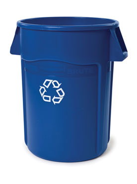 Rubbermaid FG264307BLUE BRUTE Recycling Container without Lid 44 Gallon