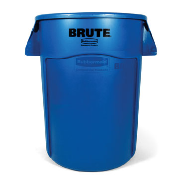 Rubbermaid FG264373BLUE 44 Gallon BRUTE Recycling Container without Lid