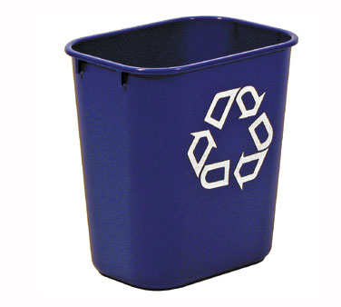 Rubbermaid FG295573BLUE Small Deskside Recycling Container