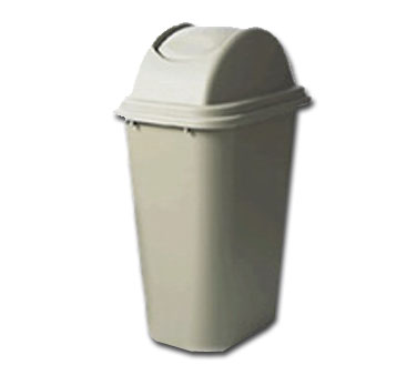 Rubbermaid FG307120BEIG Untouchable Top / Soft Wastebasket Combo 3067 lid / 2957 Wastebasket
