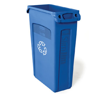 Rubbermaid FG354007BLUE Slim Jim Station 23 Gallon Recycling Container with