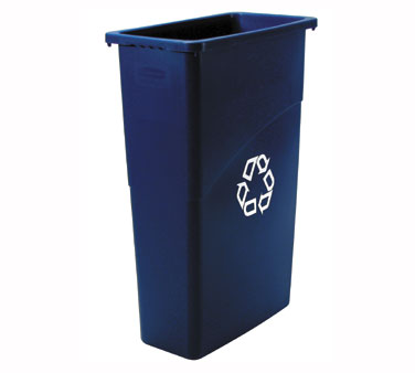 Rubbermaid FG354075BLUE Slim Jim Recycling Center