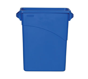 Rubbermaid FG354173BLUE Slim Jim 15-7/8 Gallon Recycling Container (60 liter)