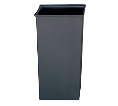 Rubbermaid FG356600GRAY Square Rigid Liner 24-2/3 Gallon Capacity