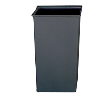 Rubbermaid FG356700GRAY Square Rigid Liner 35-1/2 Gallon Capacity