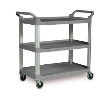 Rubbermaid FG409100GRAY Gray Three Shelf Utlity Cart