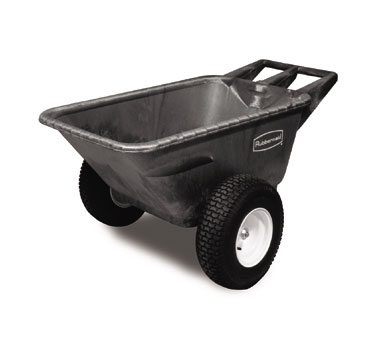Rubbermaid FG564210BLA Big Wheel Cart 7.5 cu. ft.