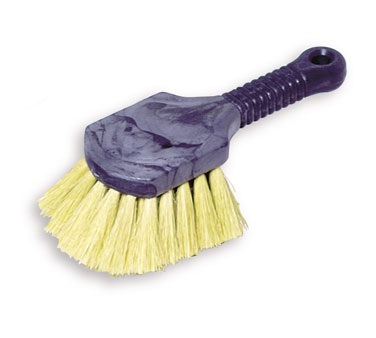 Rubbermaid FG9B3000YEL Utility Brush with Short Plastic Handle