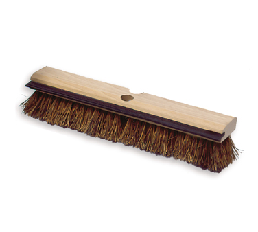 Rubbermaid FG9B3500BRN Wood Block Deck Brush with Squeegee