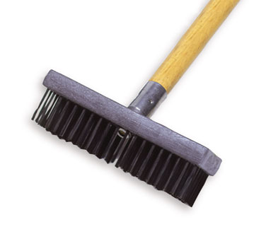 Rubbermaid FG9B4500GRAY Wire Brush Plastic with Butcher Block Handle